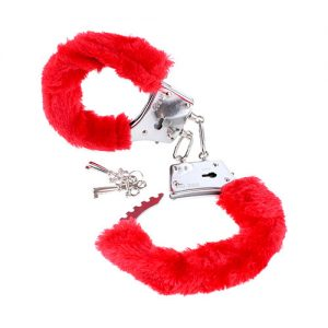 FETISH FANTASY SERIES BEGINNER'S FURRY CUFFS RED – PUNASED KARVASED KÄERAUAD