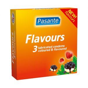 PASANTE FLAVOURS 3's – MAITSEGA KONDOOMID