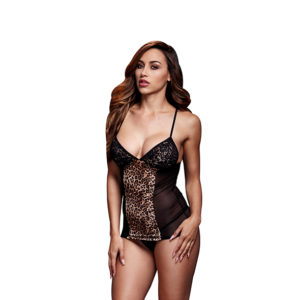 PESUKOMPLEKT BACI – LEOPARD BASQUE & GARTER STAYS NO PANTY ONE SIZE