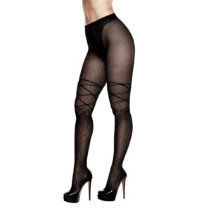 BACI – RIBBON AND BOW JACQUARD PANTYHOSE ONE SIZE