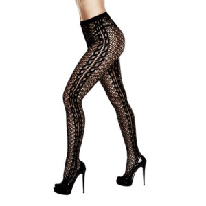 BACI – BRAIDED JACQUARD PANTYHOSE ONE SIZE